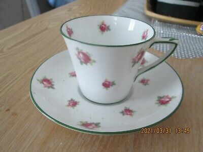 £7.99 • Buy Antique Crown Staffordshire Porcelain Hand Painted Cup & Saucer Tate Oglesby Hul