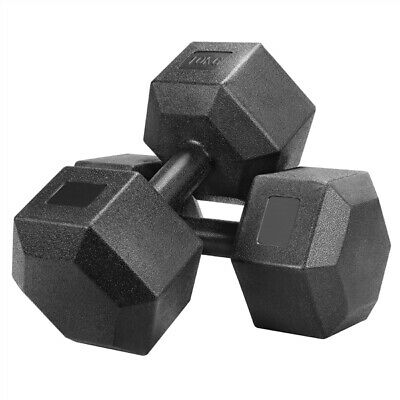 AU19.99 • Buy  Premium Rubber Hex Dumbbell Pairs (Brand New) - Commercial Graded - Weight: KG