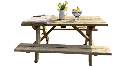 £310 • Buy  Windsor Picnic Table Bench Heavy Duty Solid Wood Fast Dispatch Uk Made