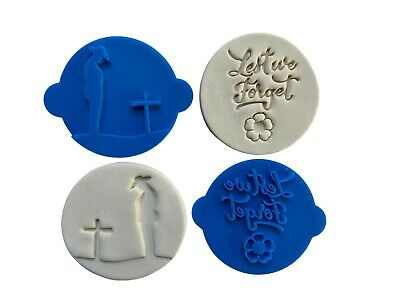 AU5.95 • Buy Australian Anazc Day Cookie Stamp Fondant Embosser Lest We Forgot Poppy Soldier