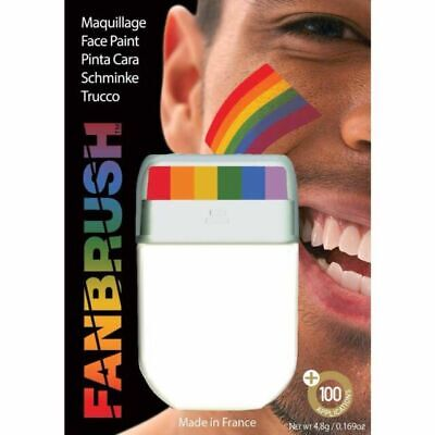 £4.99 • Buy Zacs Party Gay Pride Rainbow Flag Fanbrush Face Paint LGBTQ Fancy Dress Party
