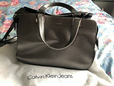 £20 • Buy Black Calvin Klein Leather Tote Bag - Used With Love