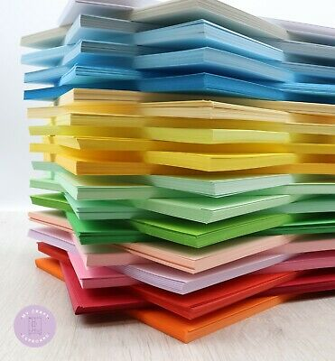 £2.95 • Buy A4 Coloured Card 25 Or 50 Sheets Per Pack 160gsm Great Quality