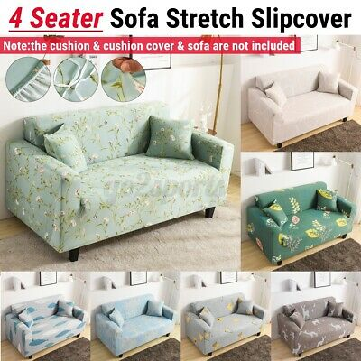 AU30.46 • Buy AU 4 Seater Stretch Sofa Elastic Slipcover Couch Cover Lounge Recliner  AU