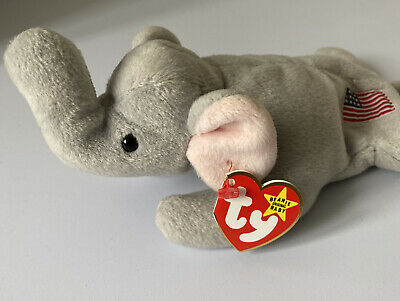 £19.99 • Buy TY Beanie Babies | Righty The Elephant | Year 1995 |4th Generation