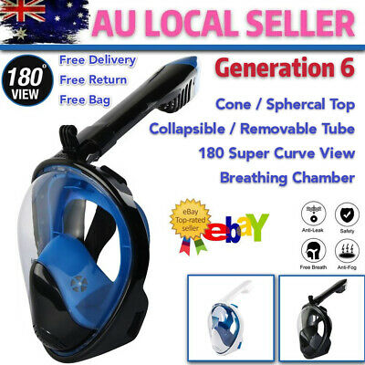 AU31.95 • Buy Full Face Diving Seaview Snorkel Snorkeling Mask Swimming Goggles For GoPro AU