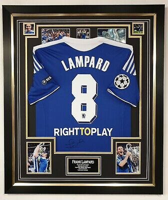 £795 • Buy Frank Lampard Signed Shirt Autographed Jersey 2012 CHAMPIONS LEAGUE DISPLAY