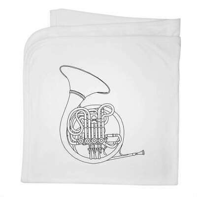 'French Horn' Cotton Baby Blanket / Shawl (BY00019547) • 9.99£