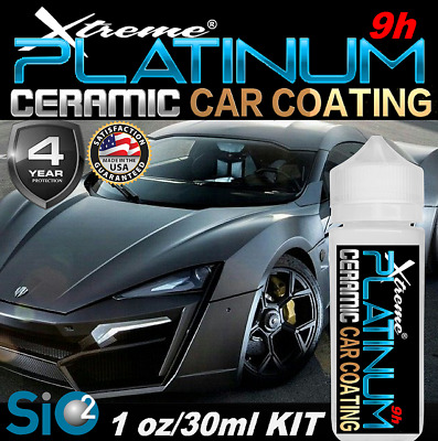 $26.95 • Buy Ceramic Car Coating Pro Grade Scratch Resistant Paint Protection Platinum Gloss