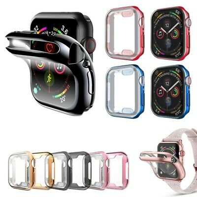 $ CDN5.97 • Buy For Apple Watch Series 3/4/5/6/SE Full Protective Electroplated Gloss Cover Case