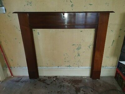 £100 • Buy Vintage Reclaimed Mahogany Wood Mantelpiece Fire Surround - 1960s (or Earlier)
