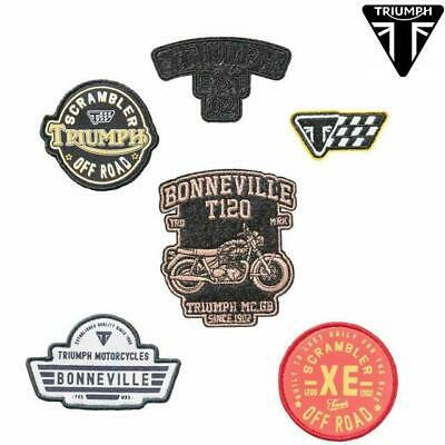 £11.45 • Buy Set Of Patch Patches Fabric For Backpacks/Bags/Jacket Original TRIUMPH Scrambler