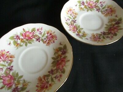 £5.50 • Buy Vintage COLCLOUGH Wayside China Pretty 5.5 Inch  Saucers X 2