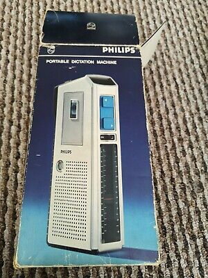 £19.99 • Buy Vintage Philips LFH 0088/00 Dictation Machine-silver- Working Dicta-phone + Tape