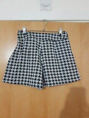 £2.99 • Buy Dogtooth Pattern Shorts Size XS - Size 6/8 Excellent Condition