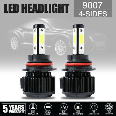 $22.99 • Buy Pair 9007 HB5 LED Headlight High Low Beam+Canbus For Dodge Ram 1500 2002-2005