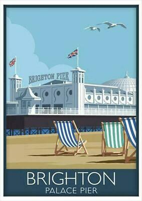 £3.99 • Buy Brighton Pier Old Vintage Travel Railway Classic Print Poster Wall Picture A4 +