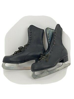 $29.98 • Buy Vintage Imperial Hardened & Tempered Size 6 Mens/Womens Black Leather Ice Skates