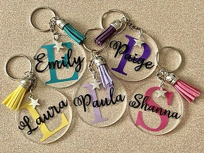 £2.99 • Buy Personalised Keyring, Any Letter, Any Name, Any Colour, Novelty Gift, Present