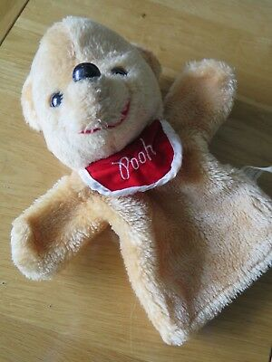 WINNIE THE POOH  - Furry Hand Puppet - Vintage 80's - Good Played-with Condition • 4.49£