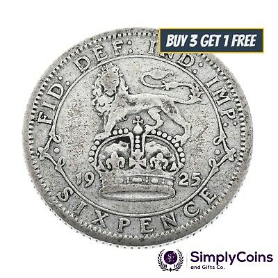£2.99 • Buy 1920 To 1936 George V Lucky Wedding/ Birthday Silver Sixpences - Choice Of Date