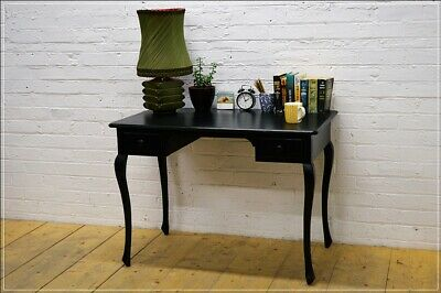 £390 • Buy Vintage Desk Cabriole Legs Solid Wood Black Console Table UK DELIVERY