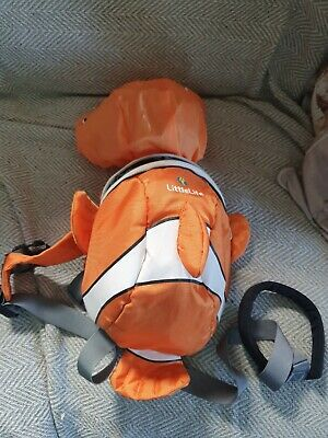 Littlelife Toddler Reins Harness Backpack With Hood Nemo • 3.50£