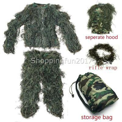 AU36.96 • Buy 3D Camouflage Hunting Ghillie Suits Clothes For Army Military Tactical Clothing
