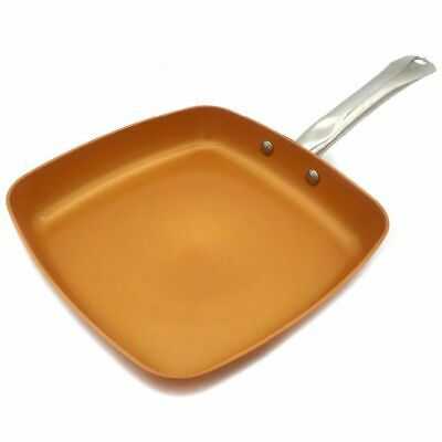 $38.94 • Buy 1X(Non-Stick Copper Frying Pan With Ceramic Coating And Induction Cooking Oven