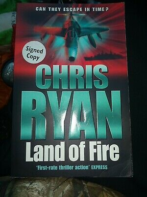 £15 • Buy Land Of Fire By Chris Ryan (Paperback, 2002) Author Signed Copy