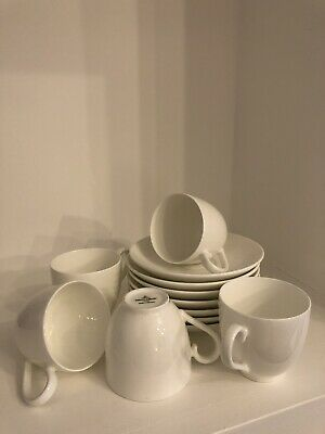 £40 • Buy 6x Villeroy & Boch Small Espresso Coffee Cups & Saucers White China Anmut Stella