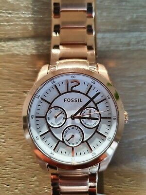 View Details Fossil Watch Womens Rose Gold Chronograph  • 35.00£