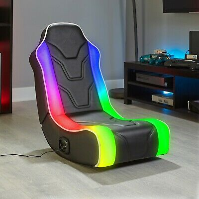 £114.68 • Buy Gaming Chair Floor Rocker LED Audio Folding Video Game Speakers For PS5 Xbox All
