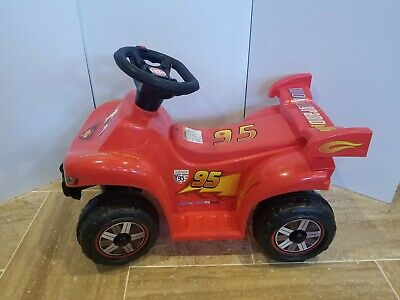 AU59.65 • Buy Disney Cars 2 Lightning McQueen Quad Bike World Grand Prix #95 6V Ride On Toy