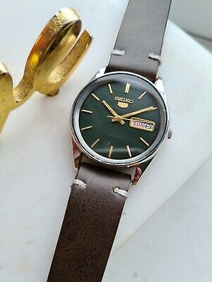 $ CDN251.64 • Buy Vintage GREEN 1983 Seiko 5 Automatic Mens Japan Watch Day/Date 80s 6309-5810
