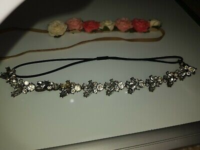 £3.99 • Buy Brand New WOT Primark X2 Jewel And Floral Headbands
