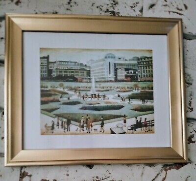£13 • Buy Ls Lowry  Piccadilly Gardens 1954.Metallic Gold Framed Print