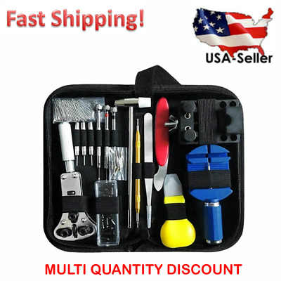 $ CDN18.14 • Buy 17 Pc Watch Battery Change Repair Tool Band Pin Remover Back Case Opener Kit
