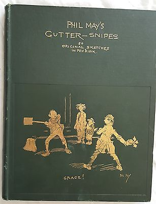 £133.26 • Buy PHIL MAY 1896,GUTTER-SNIPES,50 ORIGINAL SKETCHED In PEN & INK, LIMITED EDITION