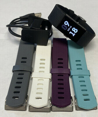 $ CDN43.31 • Buy Fitbit Charge 2 Heart Rate Activity Tracker Small Bands W/Charger FB407