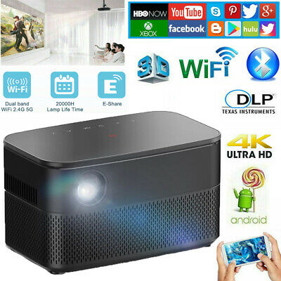 AU594.96 • Buy 9000 Lumens DLP 4K HD 1080P Android Home Theater Projector 3D  WIFI HDMI Type-C