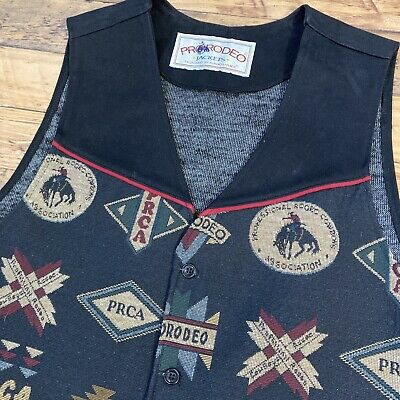 $25 • Buy PRCA PRO Rodeo VINTAGE David James Vest Size XL Rare 100% Cotton Made In USA