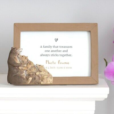 £12 • Buy Bear Family Photo Frame, Fits 6' X 4' Picture, Resin 3D Bears, Cute Home Gift