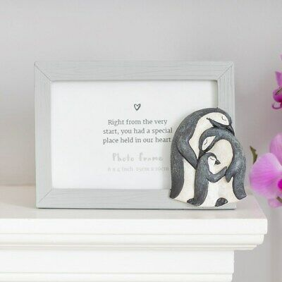 £12 • Buy Penguin Family Photo Frame, Fits 6' X 4' Picture, Resin 3D Frame, Cute Home Gift
