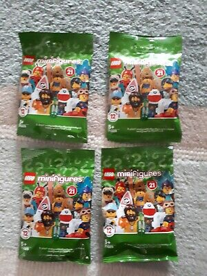 Lego Minifigures Series 21 Unopened Sealed Random Mystery Blind Bags Packs X4 • 10.45£