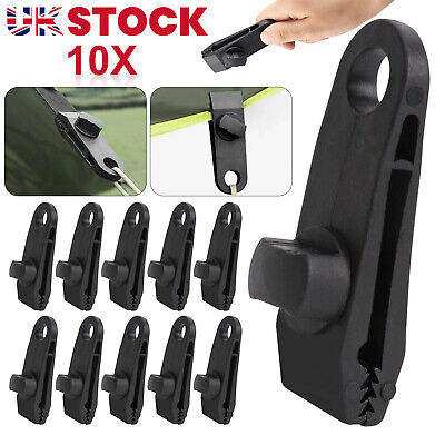 £5.99 • Buy 10PCS Tarp Clips Lock Grip Awning Clamp Set Instant Clip For Camping Canopies UK