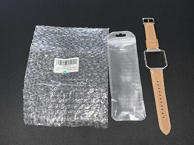 $ CDN17.27 • Buy Fitbit Blaze  Replacement Band Genuine Leather Strap Matte Brown