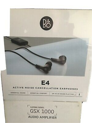 £79.88 • Buy Bang & Olufsen Beoplay E4 Active Noise Cancelling Earphones, Black B&O In Ear