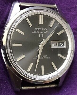 $ CDN128.05 • Buy Vintage Seiko Sportsmatic 5 Automatic Black Dial Wristwatch Running 6619 8060