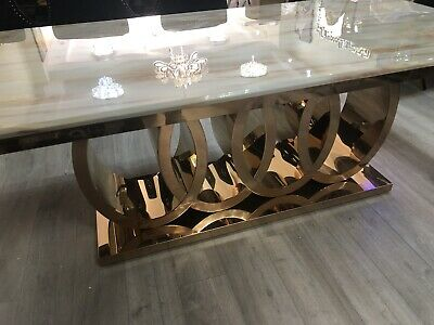 £1100 • Buy Luxury Italian Rose Gold  Dining Table New 200Cm  CALL 0208 951 5382